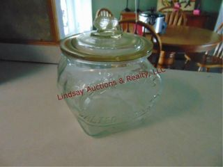 Glass Planters Salted Peanuts jar