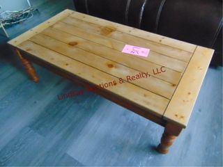 Wood cofee table 48  x 24  x 16