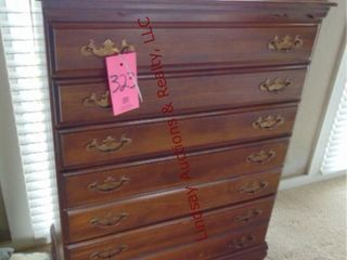 5 drawer wood dresser 36  x 18  x 47