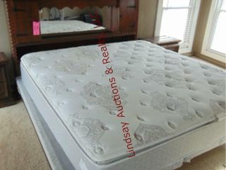 King size mattress  boxsprings  bedframe  SEE PICS