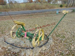 JD horse drawn sickle bar mower