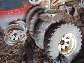 4 tires  wheels    hubcabs