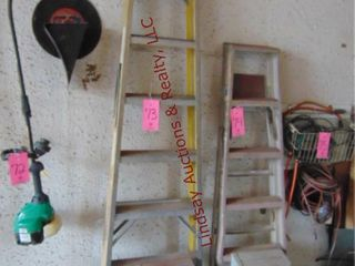 8  fiberglass stanley ladder   2  step stool