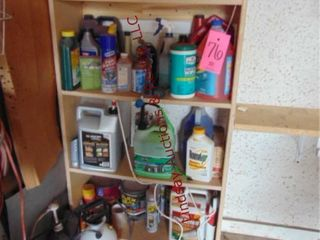 Contents of cabinet  cleaners  auto fluids  paint