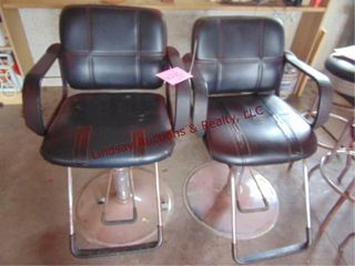 Pair barber chairs