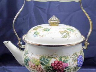 Vintage Vitro Ceramic Tea Kettle Tabletops Unlimited