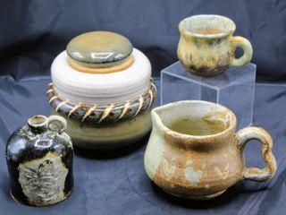 Assorted Vintage Pottery Glazed lot Signed Pieces NA  Cindy Springer  DeanIJ
