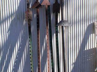 6  Metal Fencing Posts