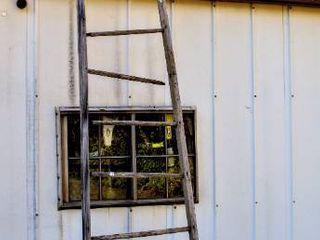 Antique Vintage Rustic Farm ladder  12 18 Ft Approximately