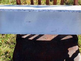 White Rustic Nautical Wall Shelf  28  Width
