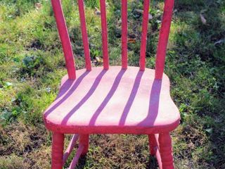 Vintage Red Farmhouse Kitchen Chair