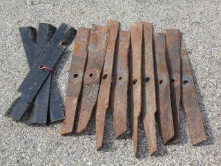 12  Mower Blades Assorted Sizes