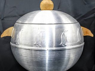 West Bend Penguin Hot Cold Server  Daalderop Tiel made in Holland Pitcher  Vintage Nicro M92 Stainless Steel Mixing Bowl