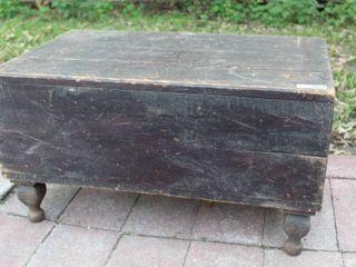 Antique Butcher Block Table Village Blacksmiths Folk WI  33  Wide x 20 5  x 18  High