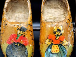 Vintage Decorative Clogs Made in Holland