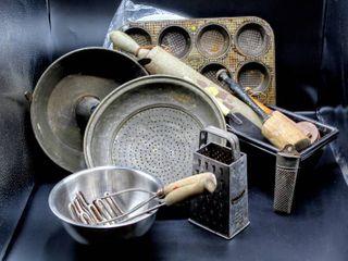 Vintage Antique Kitchen lot