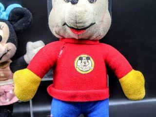 Vintage Mickey Mouse 1978  14  Plush and Minnie 1981  9  Plush Walt Disney Knickerbocker  Disney Playskool