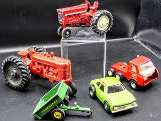 Vintage ERTl  TONKA  John Deer  Tractors  Car  Truck and Trailer