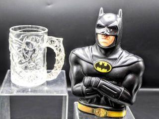 BATMAN McDonalds Batman Mug and Plastic Batman Change Bank