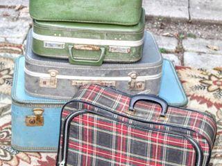 Vintage luggage lot 5 Pieces