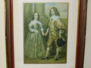 Vintage Framed Print out of Kansas City Star 2 14 1926 Prince William II and Mary Stuart