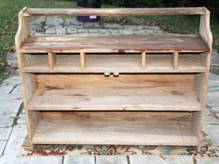 Antique Wooden Hutch Top Shelving 43 5  x 35 5  x 11  Deep