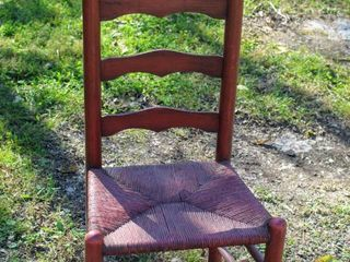 Vintage Country Rust ladder Back Chair