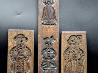 Vintage Antique Carved Wood Molds
