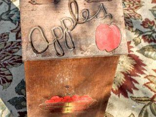 Vintage Wooden Flip top Storage Apple Box 24  Tall x 11 5  Wide