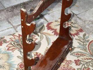 Vintage Wooden Flip open Drawer Wall Mount  4  Gun Rack 30 5  Tall x 24 5  Wide x 7