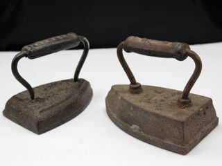 2  Antique Sad Irons B l 8 and JAKES