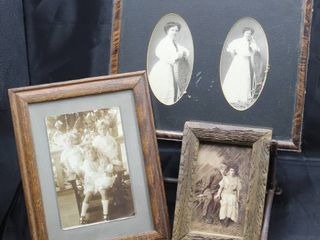 3  Antique Framed Photos and Print including Photograph of 1910 Chelsea School Attendees