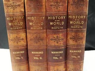 History Of The World by Ridpath Hardbacks Vol  1 4