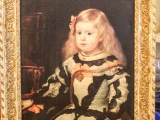 2  Framed Pictures of Princess Marguarita of Spain   1  Gorgeous Ornate Vintage Frame 24  x 30