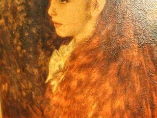 Vintage Framed Print of Mademoiselle Irene Cahen D Anvers  1880 17 5  x 21 5  in simple wood frame  Renoir