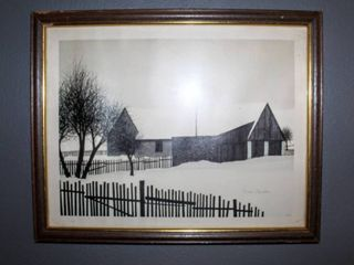 Vintage Contemporary Homestead Print by Jacques Deperthes 19 75  x 16