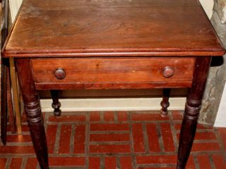 Vintage Antique Farm Side Table with Drawer