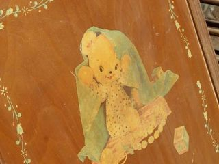Detailed Vintage Crib Frame  no springs or mattress  for DIY lovers