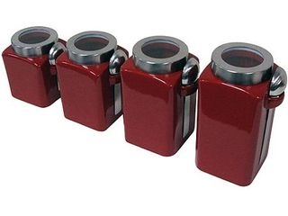 Mainstays 4 Piece Canister Set  Crimson