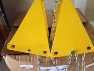 set of heavy duty wheel chocks with chains
