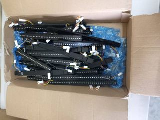 very large lot of assorted lED light panels and wiring