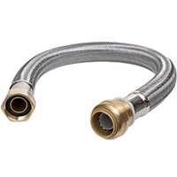 SharkBite U3088FlEX24lF Flexible Water Heater Connectors  3 4 Inch by 3 4 Inch by 24 Inch length