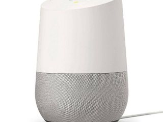 Home   Smart Speaker with Google Assistant   White Slate