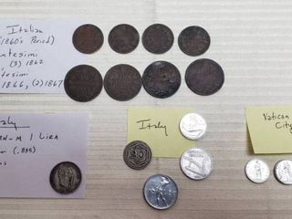 Coins of Italy and Vatican City