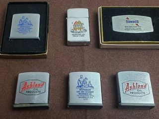 Zippo Advertising Tape Measures  lighter and Money Clip Knife