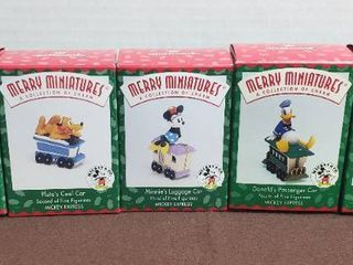 Hallmark Merry Miniatures Ornaments   Mickey Mouse Train Collection