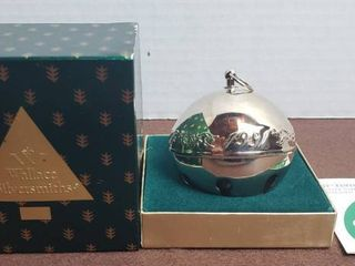 1991 Wallace Sliversmiths Annual Christmas Bell