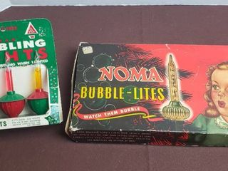 Vintage Noma Bubble lites set   Bubbling lights Replacements  package of 3