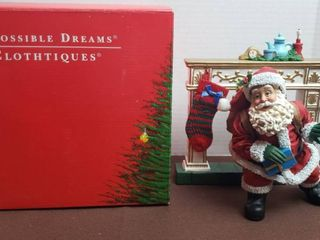 Clothtique Santa   Possible Dreams   1997 Down The Chimney He Came 713154