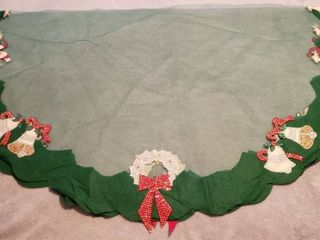 2 Vintage Sequin  Toole  and Felt Tablecloths   Green Round  68 in  diameter  and White Rectangular  5 x 7 ft